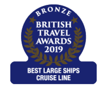 "British Travel Awards 2019 - Cunard ""Best Large Ships Cruise Line"" Bronze Award"