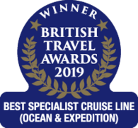 "Britsh Travel Awards 2019 - Silversea ""Best Specialist Cruise Line"""