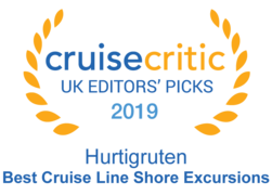 "Cruise Critic 2019 - Hurtigruten ""Best Cruise Line Shore Excursions"""