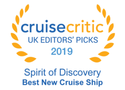 "Cruise Critic 2019 - Saga Spirit of Discovery ""Best New Cruise Ship"""