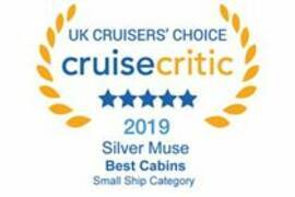 "Silver Muse – ""Best Cruise Ship Cabins"" 2019 -  Cruise Critic Cruiser's Choice Awards"
