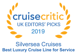 "Cruise Critic 2019 - Silversea ""Bets Luxury Cruise Line for Service"""