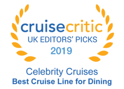 "Cruise Critic 2019 - Celebrity Cruises ""Best Cruise Line for Dining"""