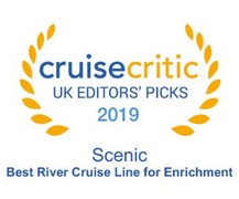 "Cruise Critic 2019 - Scenic River Cruises ""Best River Cruise Line for Enrichment"" 2019 Winner"