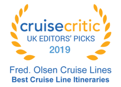 "Cruise Critic 2019 - Fred. Olsen Cruise Lines ""Best Cruise Line Itineraries"""