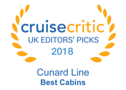 Cruise Critic UK Editors Picks 2018 - Cunard Line Best Cabins