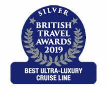 "British Travel Awards 2019 - Celebrity Cruises ""Best Ultra-Luxury Cruise Line"" Silver Award"
