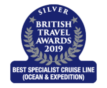 "British Travel Awards 2019 - Cunard ""Best Specialist Cruise Line"" Silver Award"