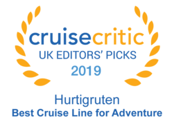 "Cruise Critic 2019 - Hurtigruten ""Best Cruise  Line for Adventure"""