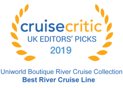 "Cruise Critic 2019 - Uniwolrd ""Best River Cruise Line"""