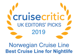 "Cruise Critic 2019 - Norwegian Cruise Lines ""Best Cruise Line for Nightlife"""