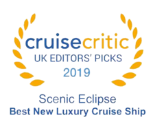 "Cruise Critic 2019 - Scenic Eclipse ""Best New Cruise Ship"" 2019"