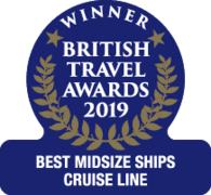 "British Travel Awards 2019 - Cunard ""Best Midsize Ships Cruise Line"" Winner"