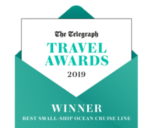 "The Telegraph Travel Awards 2019 - Seabourn ""Best Small-Ship Ocean Cruise Line"""