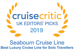 "Cruise Critic 2019 - Seabourn ""Best Luxury Cruise Line for Solo Travellers"""