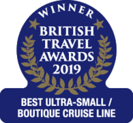 "British Travel Awards 2019 - Saga Winner ""Best Ultra-Small Boutique Cruise Line"""