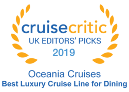 "Cruise Critic 2019 - Oceania Cruises ""Best Luxury Cruise Line for Dining"""