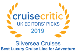 "Cruise Critic 2019 - Silversea ""Best Luxury Cruise Line for Adventure"""