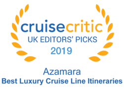 "Cruise Critic 2019 - Azamara ""Best Luxury Cruise Line Itineraries"" 2019"