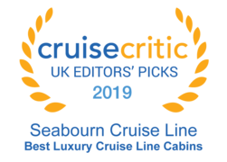 "Cruise Critic 2019 - Seabourn ""Best Luxury Cruise Line Cabins"""