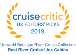 "Cruise Critic 2019 - Uniworld ""Best River Cruise Line Cabins"""