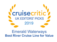 "Cruise Critic 2019 - Emerald Waterways ""Best River Cruise Line for Value"" 2019 Winner"