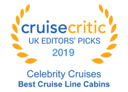 "Cruise Critic 2019 - Celebrity Cruises ""Best Cruise Line Cabins"""