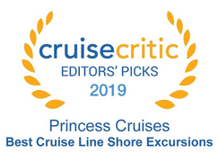 "Cruise Critic 2019 - Princess Cruises ""Best Cruise Line for Shore Excursions, Ocean Category"" 2019"
