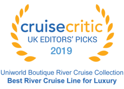 "Cruise Critic 2019 - Uniworld ""Best River Cruise Line for Luxury"""