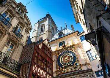 Rouen Normandy Dial Clock Timbered House