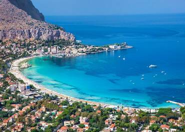 Mondello white sand beach, Palermo