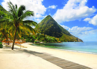 Les Pitons, St Lucia