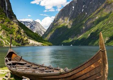 Viking boat, Flåm, Norway