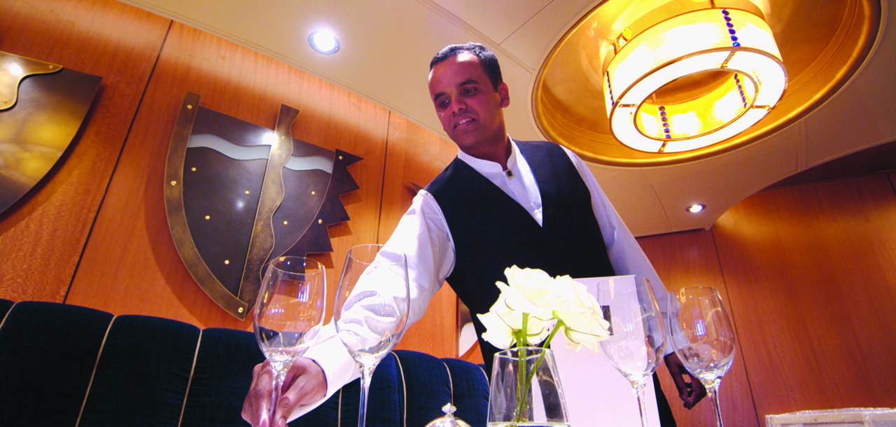 Fine dining with P and O Cruises