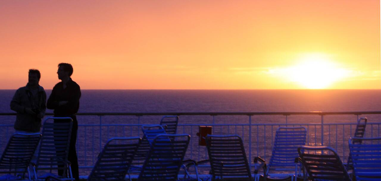 Midnight Sun on board MS Trollfjord