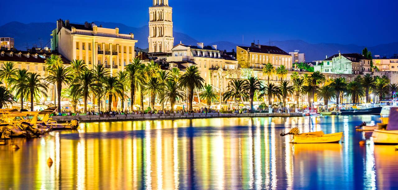 Diocletian Palace at night, Split