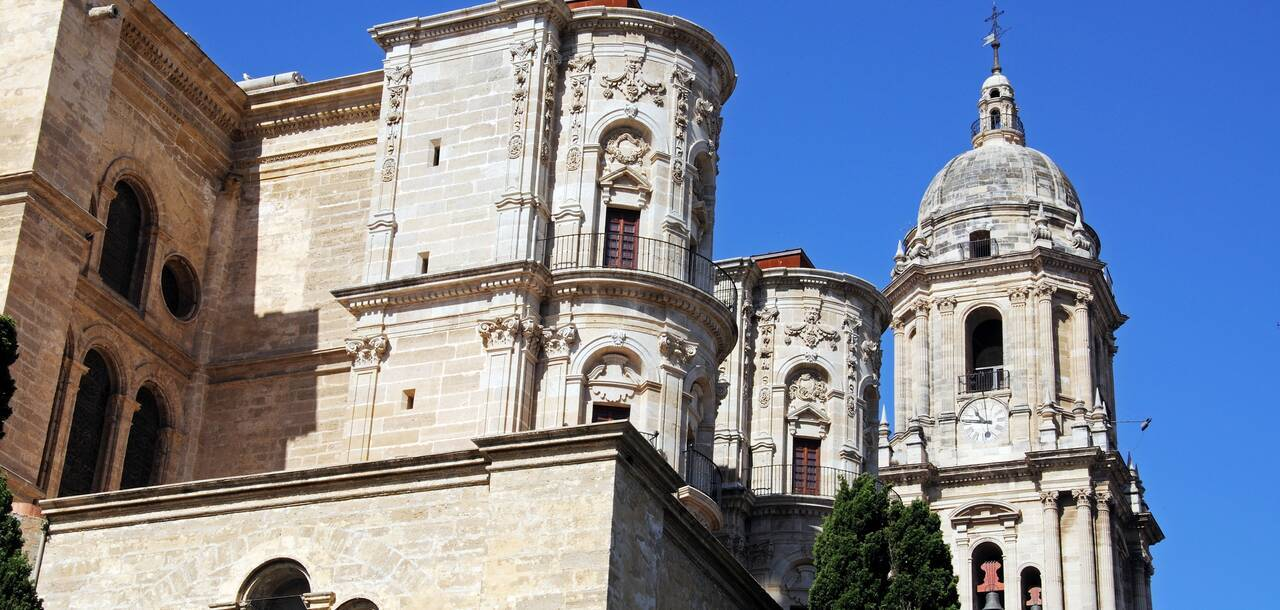 Cathedral (Catedral La Manquita) and bell tower, Malaga