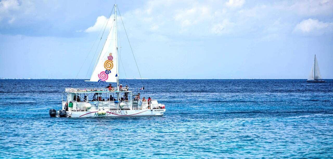 Boat on the Sea - Cozumel, Mexico