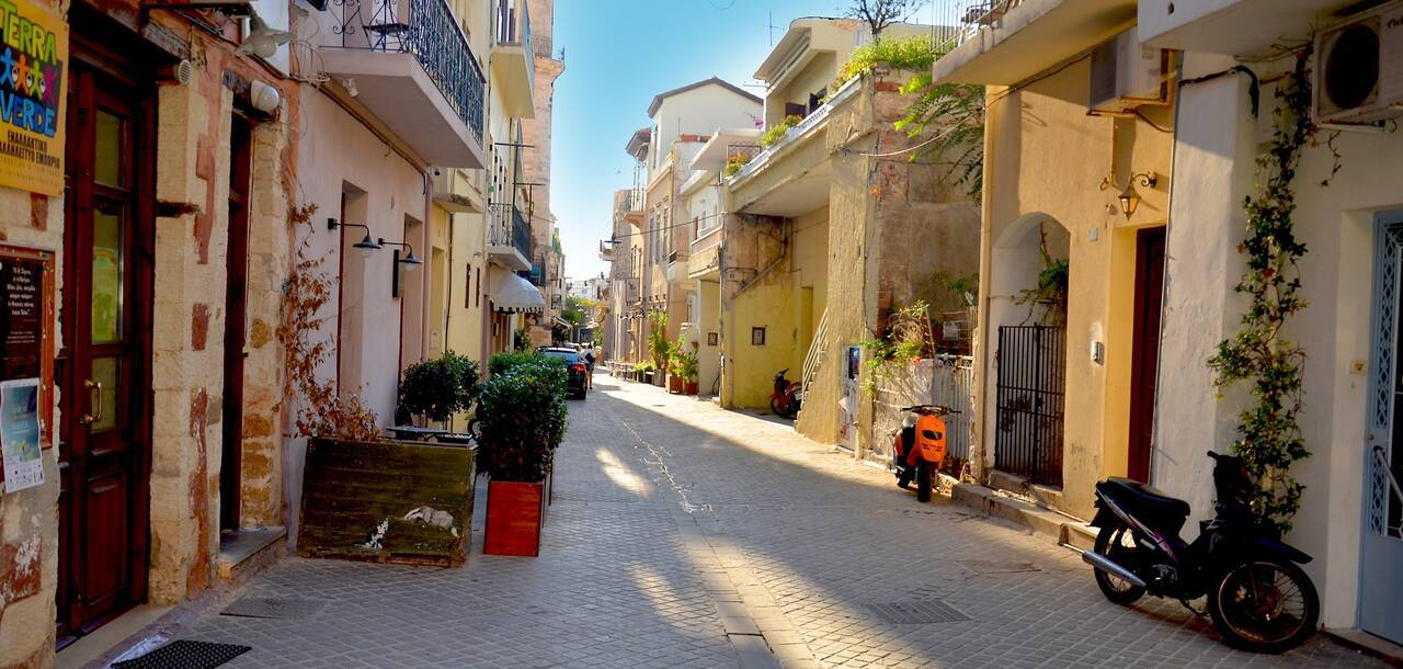 Romantic streets of the old town, Chania