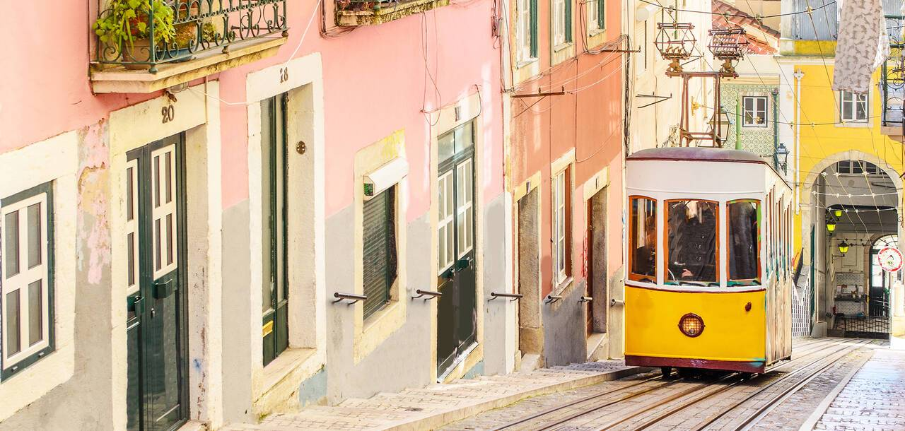 Lisbon's iconic yellow trams