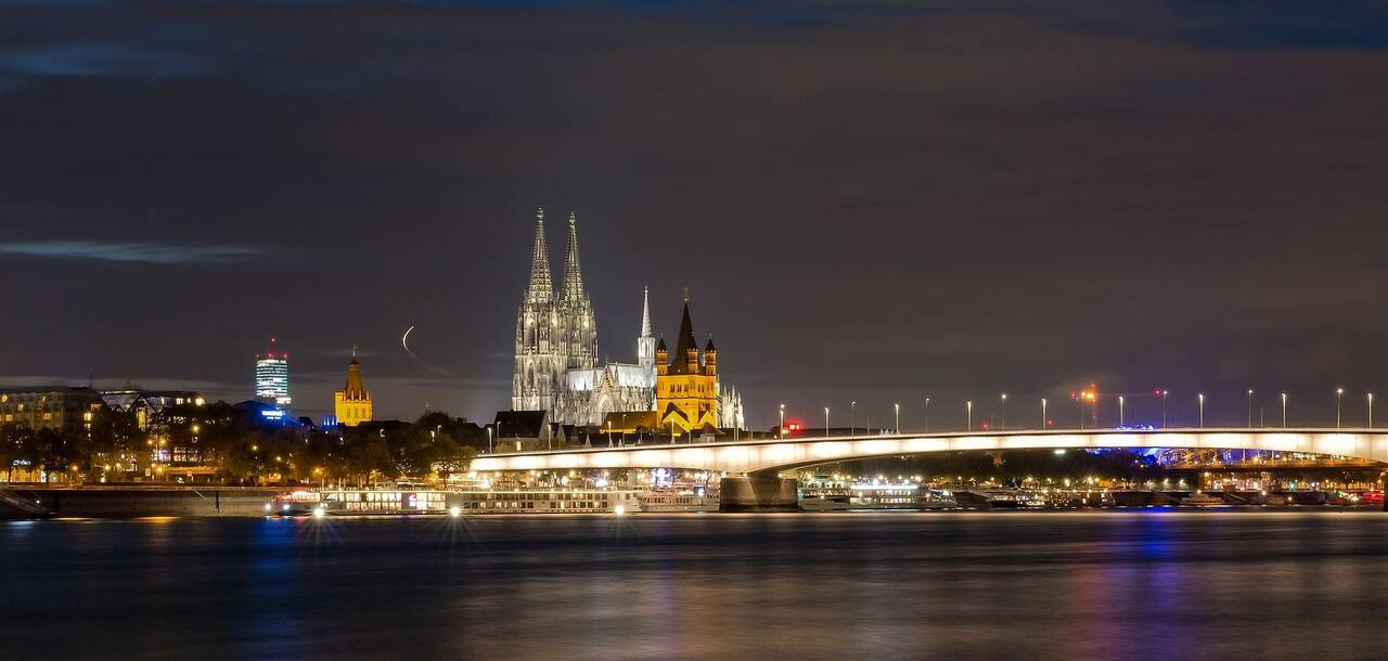 Cologne Cathedral Hohenzollern Bridge