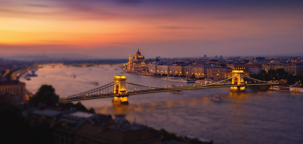 View of Budapest over the Danube