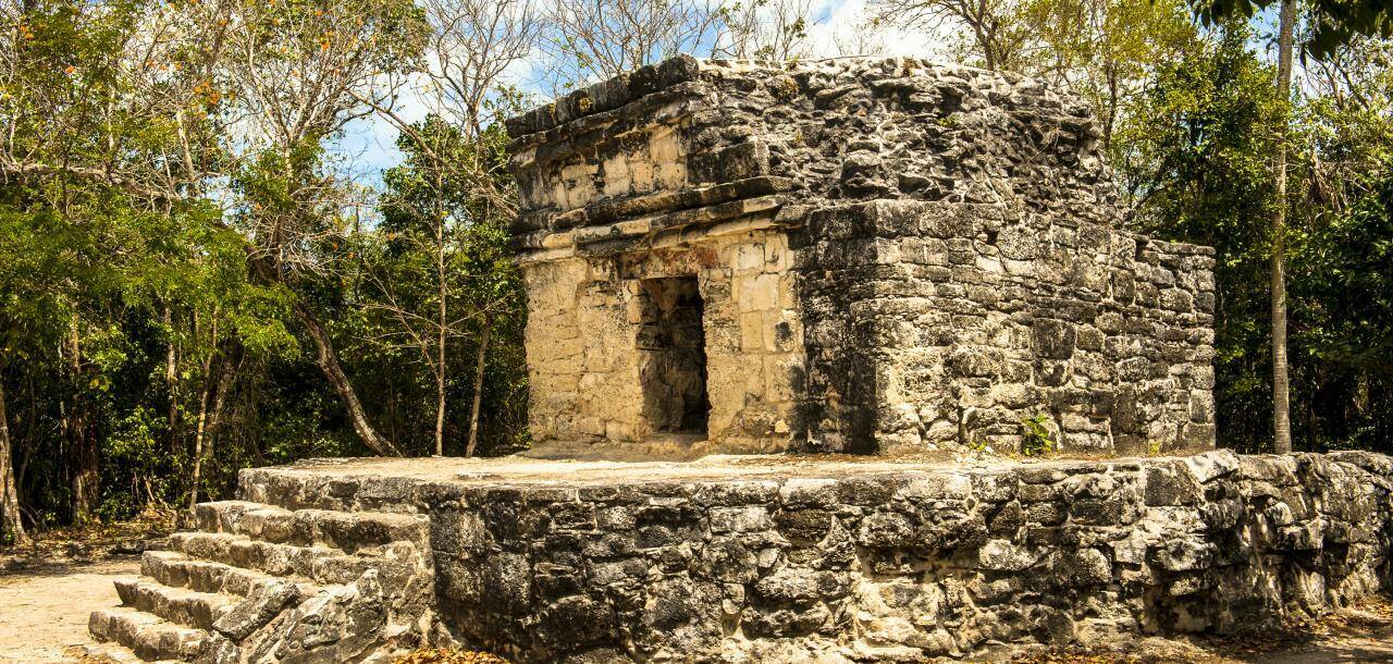 Stone Building in San Gervaisio - Cozumel, Mexico