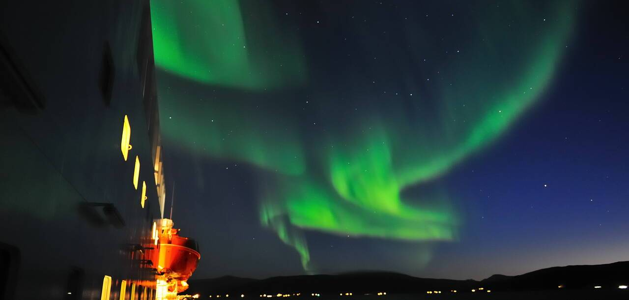 Northern Lights seen from MS Nordkapp