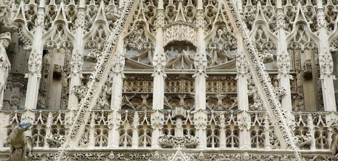 Rouen Normandy Cathedral Gothic Sculptures