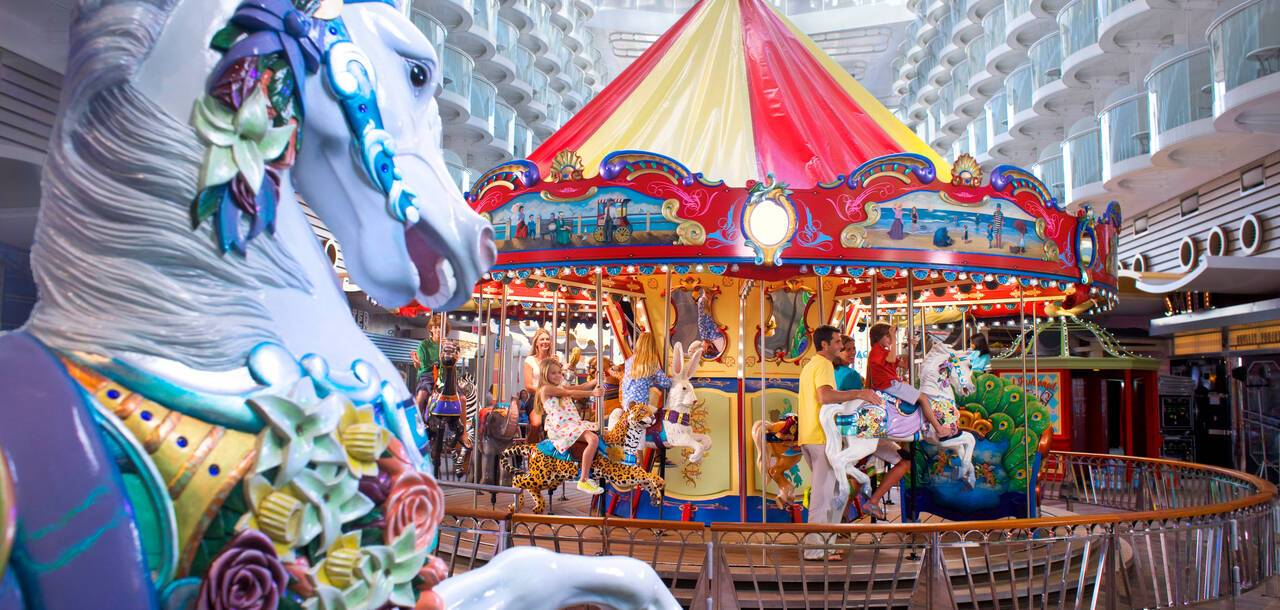 Oasis of the Seas Boardwalk Carousel