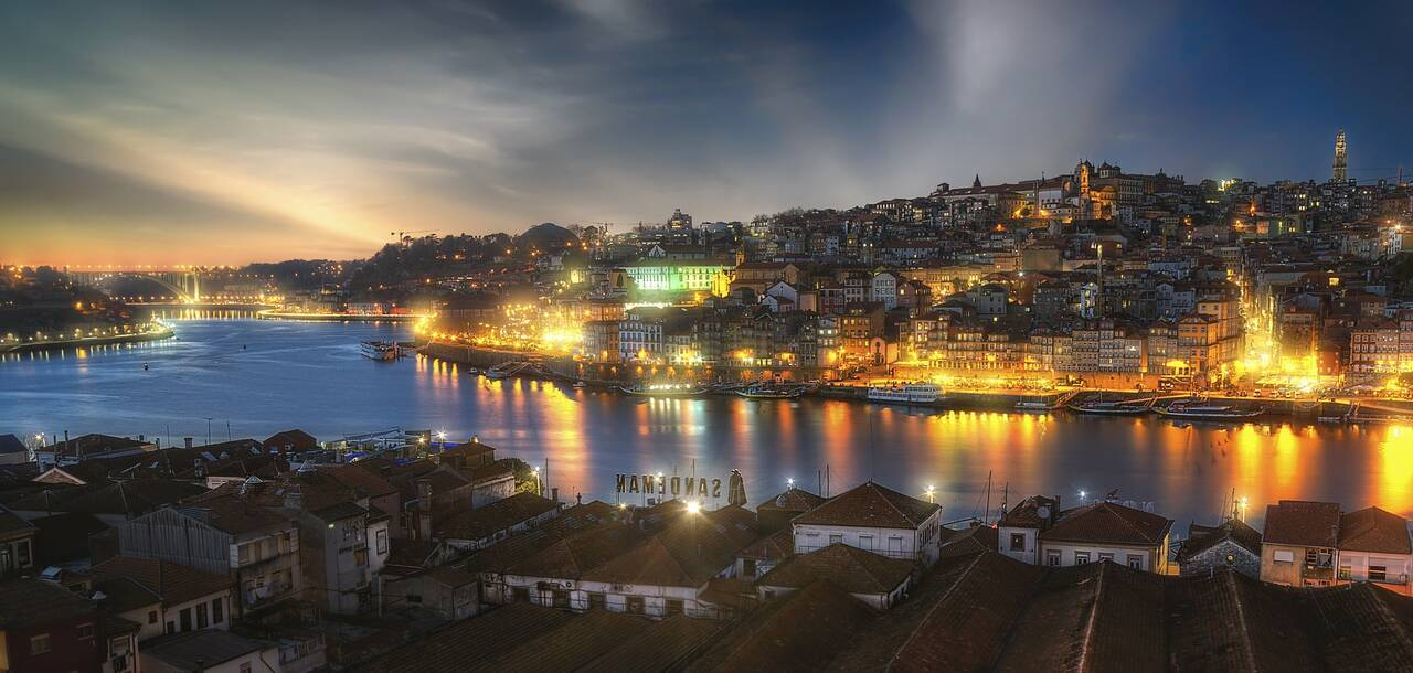 Porto City Portugal Historic City Rio River Douro