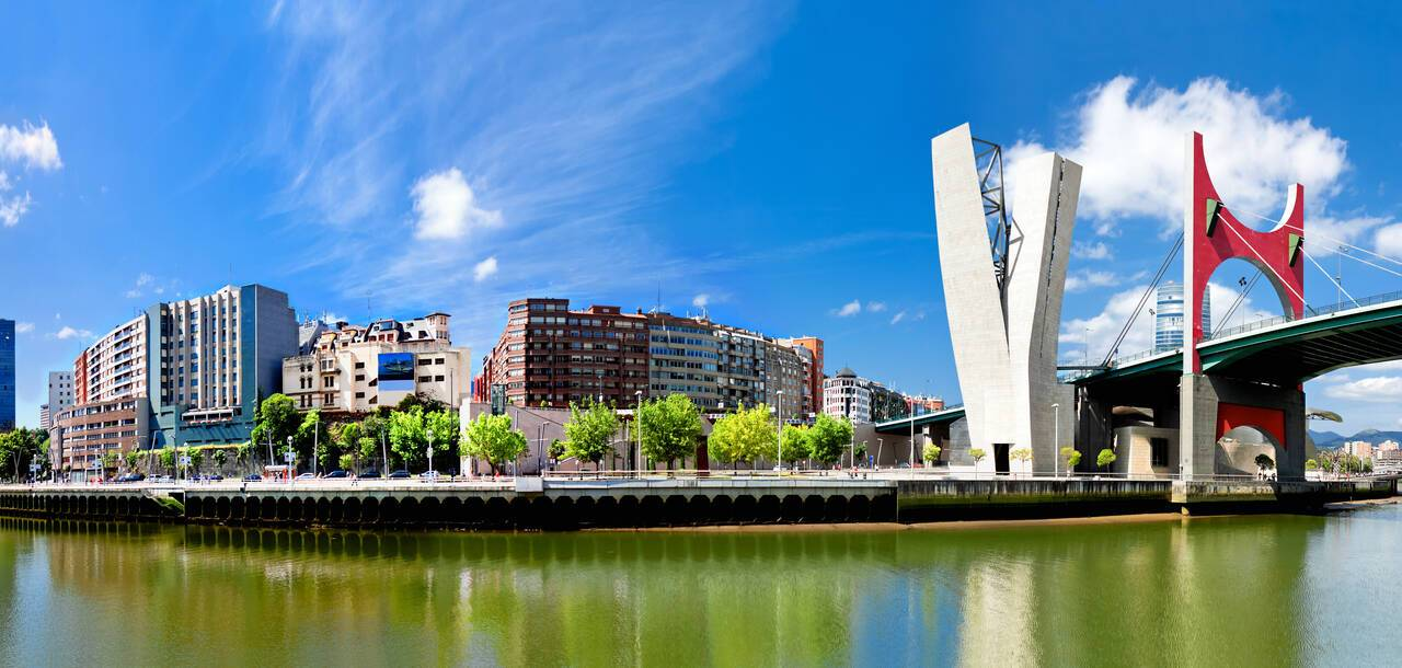 Bilbao, Spain,panoramic views of downtown